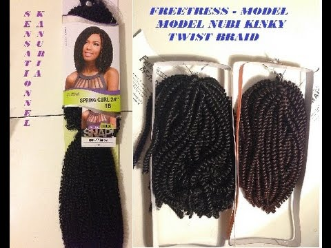 Ft Mm Nubi Twist Sensationnel Snap Kanubia Spring Curl Crochet Braids