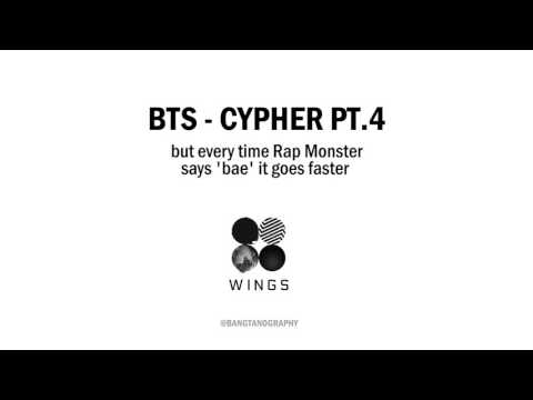 bts cypher 4 but every time rap monster says bae it goes faster