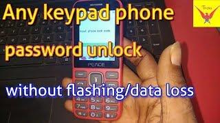 Any Keypad phone password/pin unlock without flashing/data loss || Verified Tricks