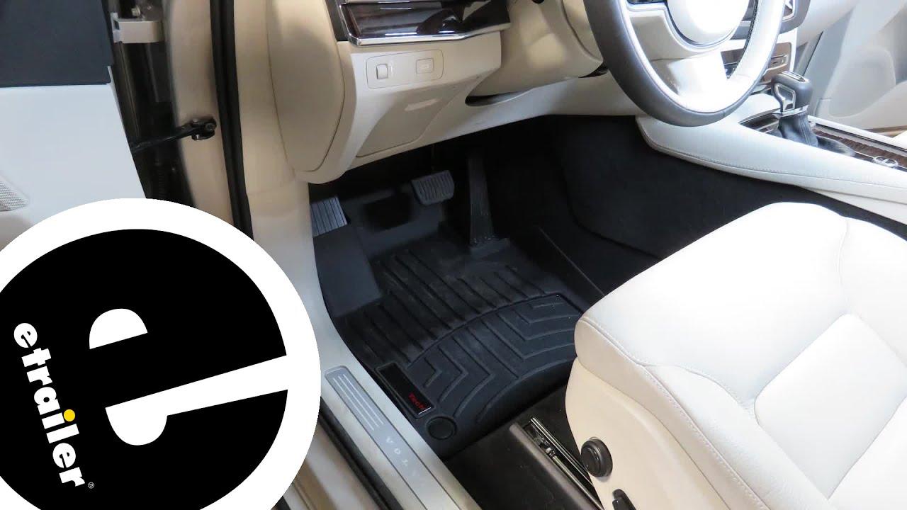 Weathertech Front Floor Mats Review 2017 Volvo Xc90 Etrailer Com