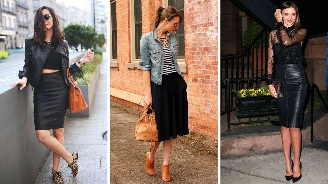 Faldas Negras De Vestir Moda Fashion Faldas