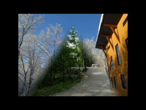SPECTACULAR POST AND BEAM ECO HOME/COTTAGE FOR SALE LAURENTIAN MOUNTAINS QUEBEC CANADA