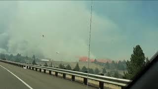 שריפה בקליפורניה