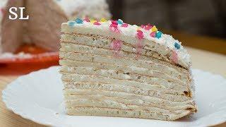 Блинный Торт c Тврожно-сметанным Кремом! Вкусно и Просто! Рецепт +ИТОГИ КОНКУРСА!