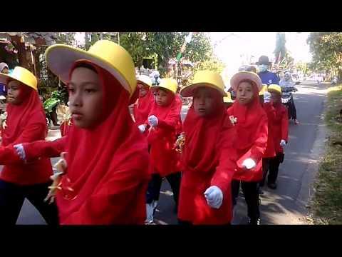 Gerak Jalan MI/SD HUT RI 72 Sekecamatan Laren 2017