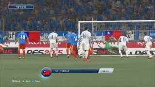 ウイイレ PES 2015 - China vs  Greece (XBOX ONE) 위닝 2015 중국 대 그리스