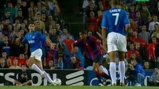 Goles Rivaldo Barcelona-Valencia 2000-2001 (Con chilena) GRAN CALIDAD Y SONIDO