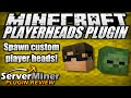 How to spawn player heads in Minecraft with PlayerHeads Plugin
