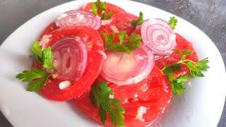 Самый вкусный рецепт быстрых маринованных помидорчиков в масляно чесночном соусе