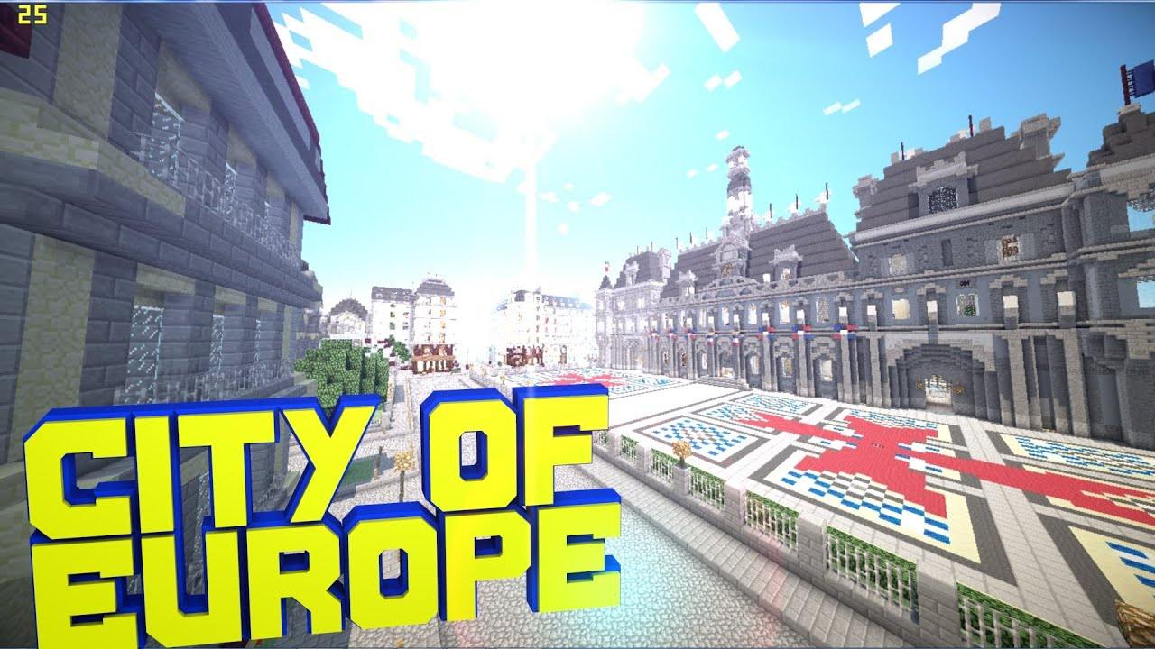 Minecraft Pe City Of Europe Xixth Century Download Youtube