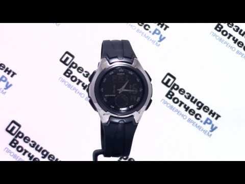 Часы Casio Illuminator AQ-160W-1B [AQ-160W-1BVEF] - Круговой обзор от PresidentWatches.Ru