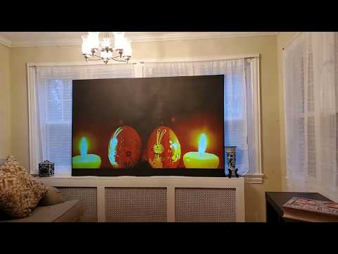 Inflatable Projection Screen Supreme 9 ALR GOLD Paint On Demonstration And GOLD ALR Technology.
