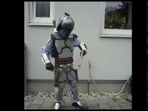 Jango Fett Kid with Jetpack Star Wars Costume - YouTube