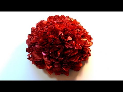 how to make a big flower with tissue paper, Beautiful flower
