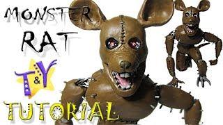 Как слепить Монстер Рэт ФНАК из пластилина Туториал Monster Rat FNAС Tutorial