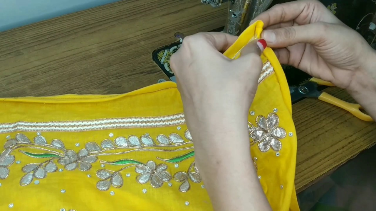 Rajasthani dress cutting and stitching/rajputi cotton suit stitching for beginners