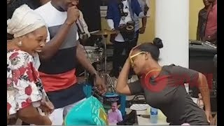 Tope Alabi Vs Her Daughters In  Shaku Shaku Dancing Competition At Her Husband  Birthday Party