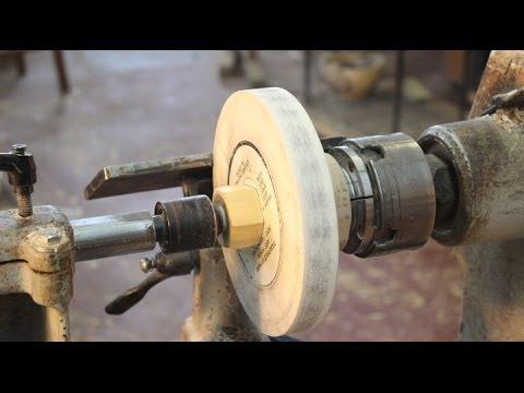 Tool Sharpening Set-up on the Wood Lathe