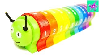 Learn To Count With Wooden Toy Caterpillar For Toddlers | Counting For Kids