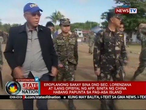 SONA: DND Sec. Lorenzana at ilang opisyal ng AFP, sinita ng China habang papunta sa Pag-asa Island
