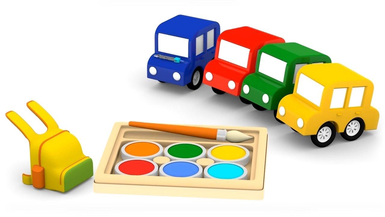 Cartoni animati per bambini macchinine colorate tornano a