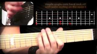 Drop C Tuning Riff Workout: Guitar Lesson