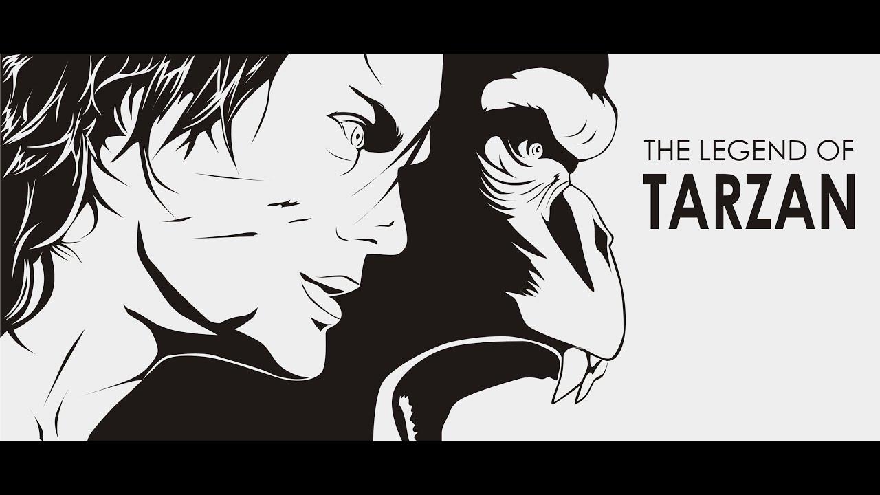 Uncategorized Tarzan Drawing how to draw the legend of tarzan wallpaper lineart style youtube