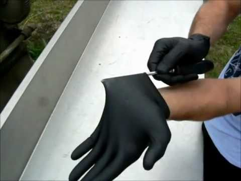 Nitro Black 100 Nitrile Super Strong Disposable Gloves By Geelong