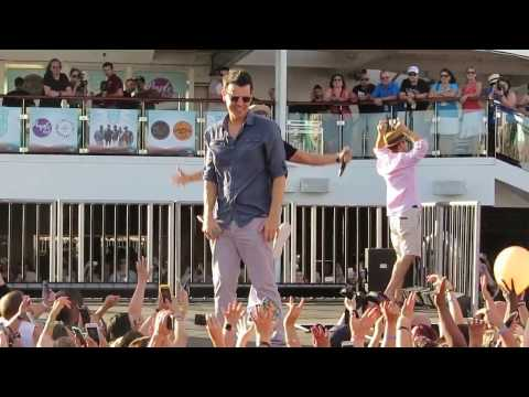 opening & sail away party at NKOTB-Cruise 2016