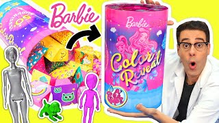 ABRO 50 SORPRESAS de BARBIE COLOR REVEAL con Barbies Mágicas y Juguetes | Curiosidades con Mike
