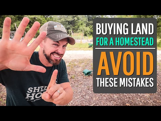 6 Mistakes to AVOID when Buying Raw Land {for a HOMESTEAD}