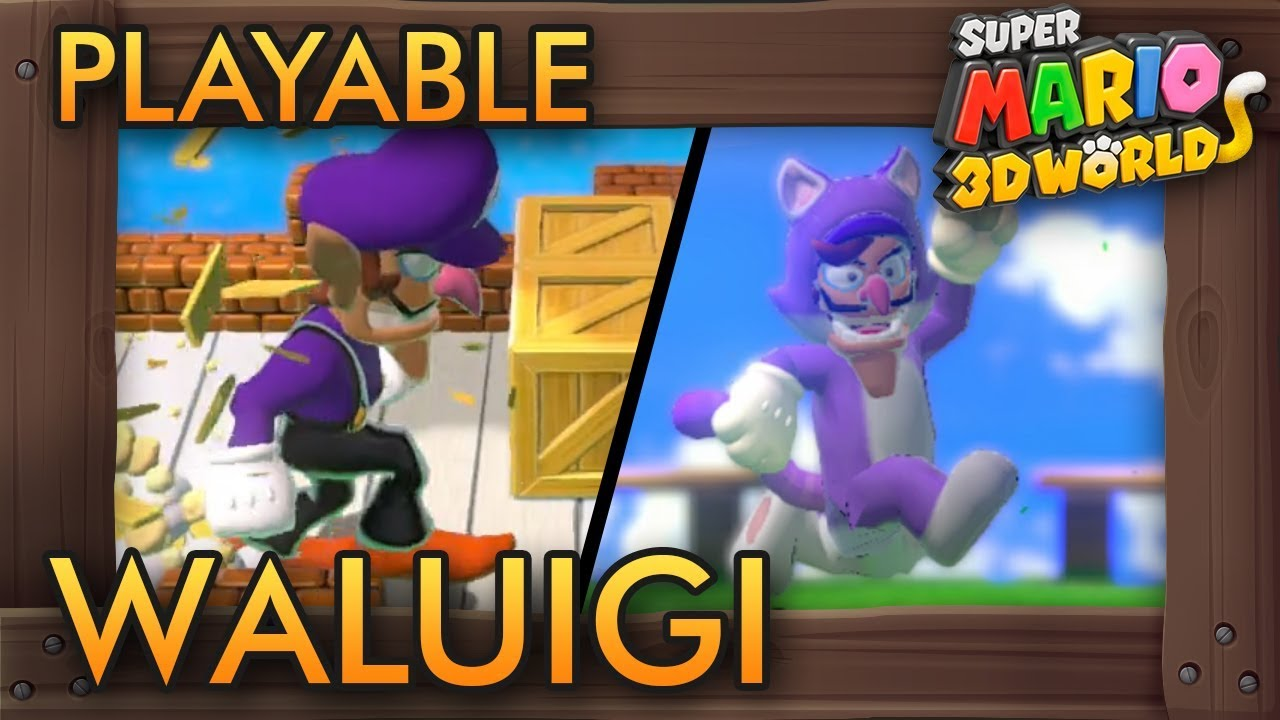 What If Waluigi Was Playable In Super Mario 3d World Youtube