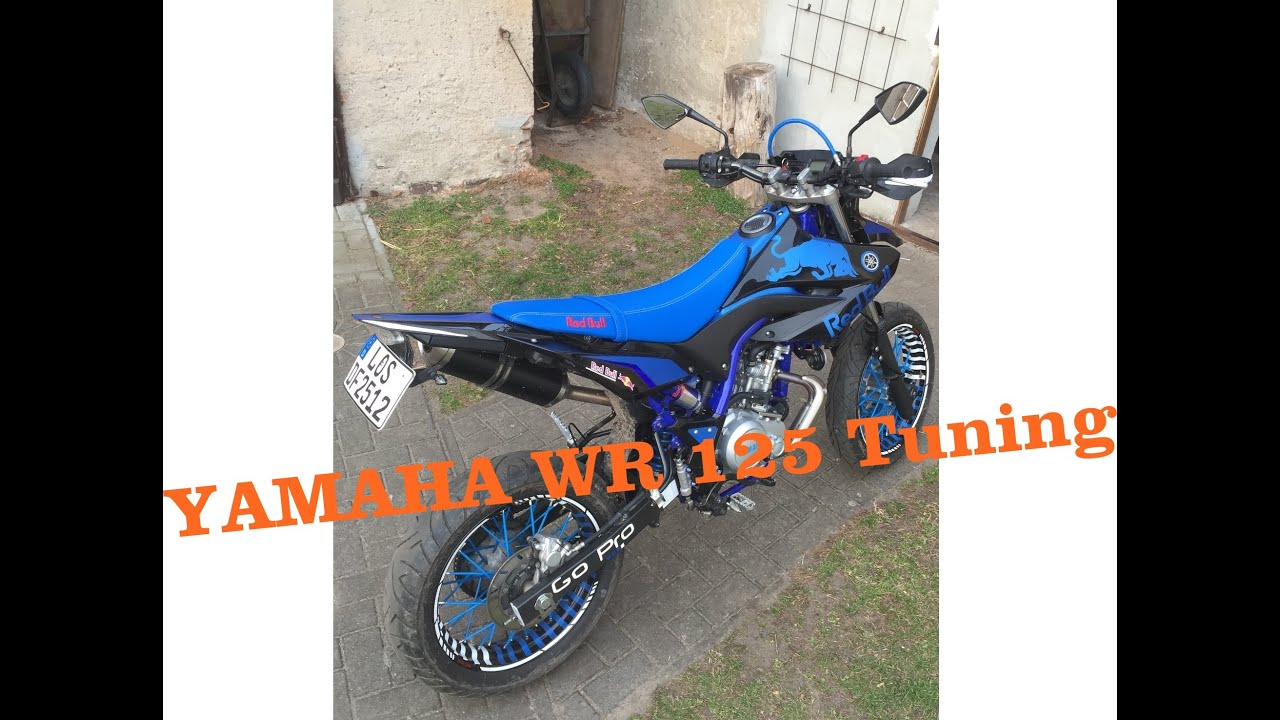 yamaha wr 125x tuning red bull dekor youtube