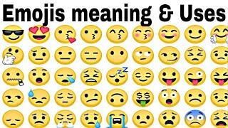 All Emoji Meaning In Hindi   All Emoji Name And Uses  WhatsApp Emoji Meaning