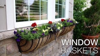 Summer Window Baskets