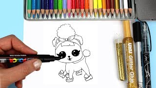 How to Draw LOL Surprise Pets Series 3 Wave 2 Unboxing & Drawing Pup Bee Surprise Opening for Kids