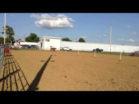 July 16, 2016 - Monroe County Fairgrounds, Waterloo IL - Jocelyn & Annie Pole Bending Race