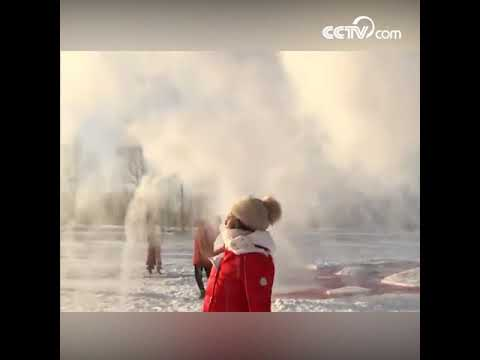 Зимнее красивое зрелище в провинции Хэйлунцзян CCTV Русский