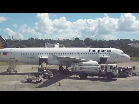 Philippine Airlines at Tagbilaran Airport Bohol Philippines Refueling with Petron Aviation Fuel