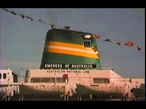 Empress of Australia Last Arrival in Melbourne 1985