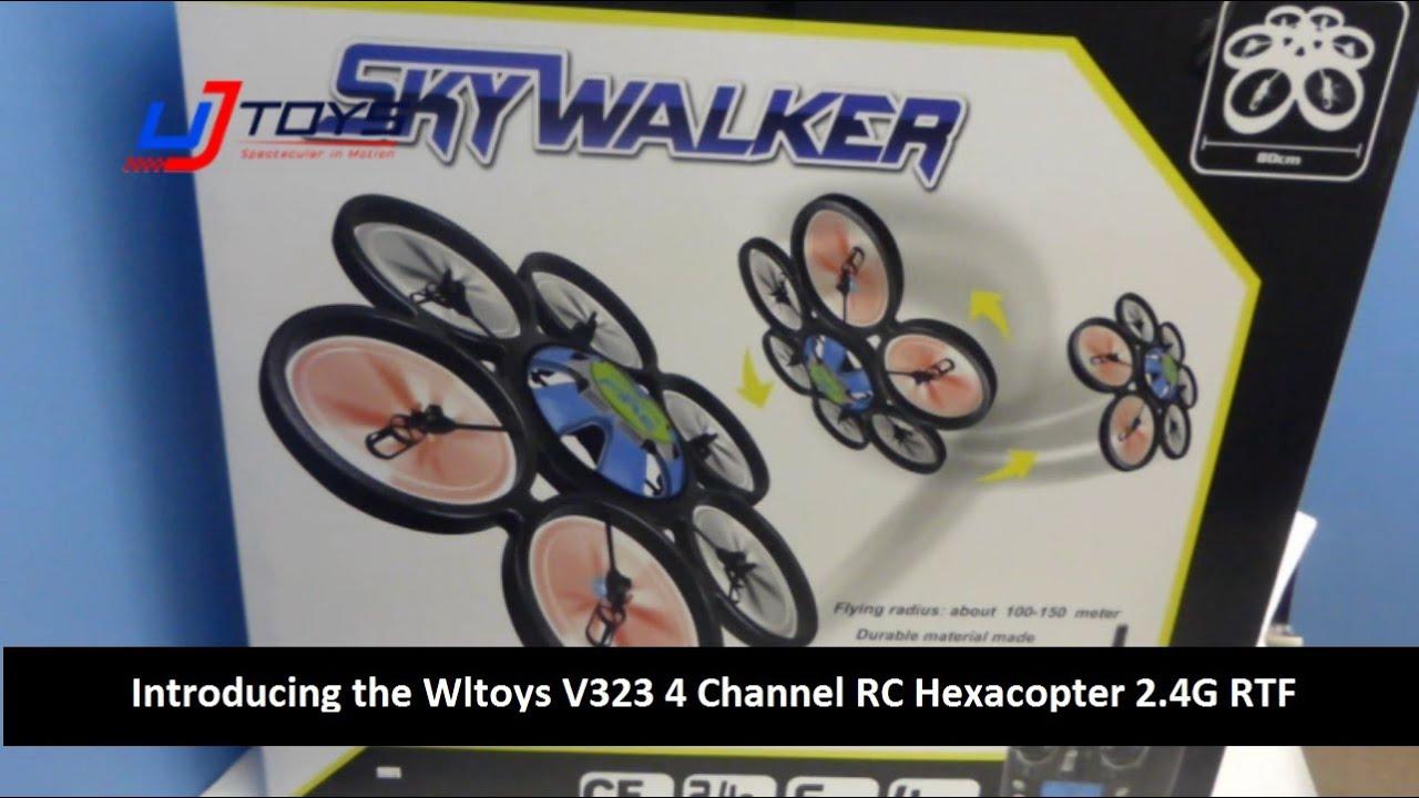 Гексакоптер Wltoys V323, камера 808 #26, пробный полёт - YouTube