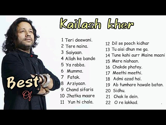 BEST of kailash kher   all songs of kailash kher