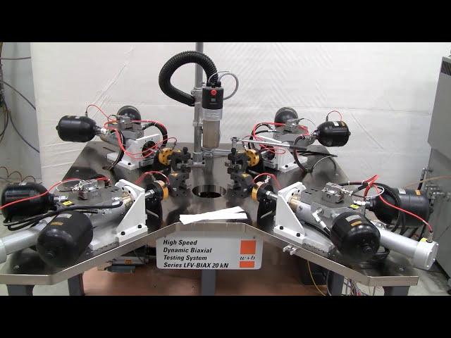 Servohydraulic Biaxial Test System LFV BIAX 20