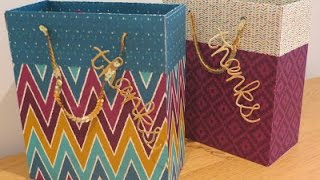 Large Gift Bag Tutorial using Bohemian DSP from Stampin Up