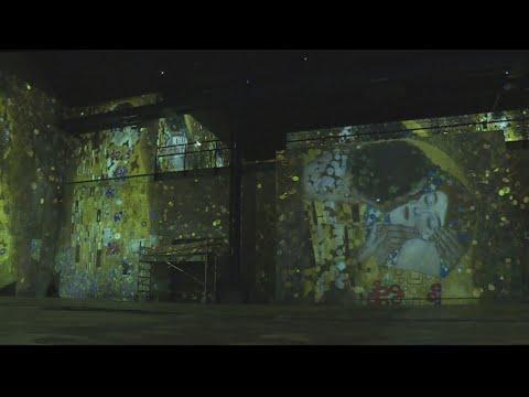 فرانس 24:Total immersion: Klimt's luminous paintings come to life in new art space