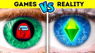 Games VS Reality Challenge | Sister VS Brother  - by La La Life Games