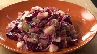 Салат с консервированной горбушей. Вкусные советы. 1.12.2015