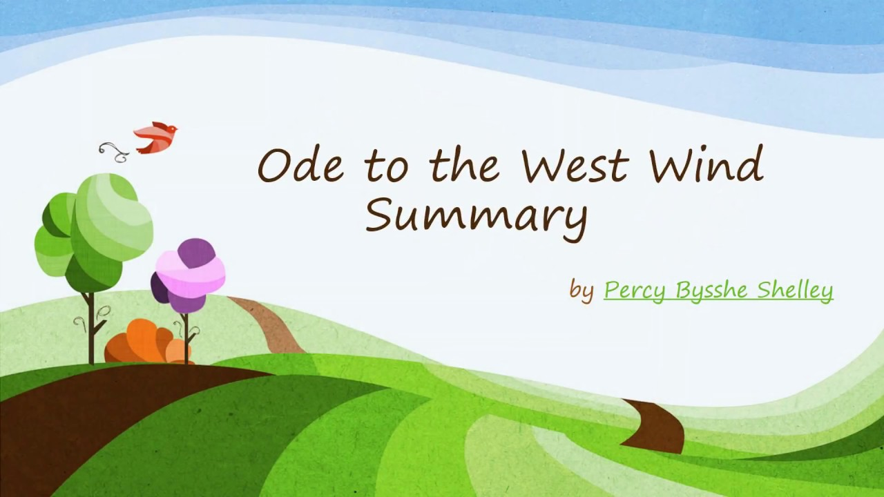 an analysis of percy bysshe shelleys ode to the west wind Starting with the poem written in 1819, ode to the west wind captures the essence of shelley's principal objective – to bring about a decisive change in commonplace society through the infusion of new ideas of poetry.