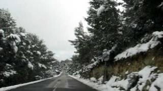 Calvia Road in the Snow - Palma de Mallorca