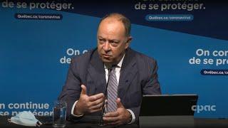 COVID-19 au Québec : le ministre Christian Dubé appréhende une hausse des cas – 31 août 2021